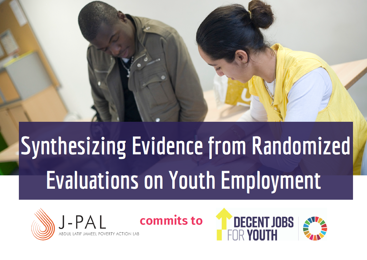 J-PAL commits to Decent Jobs for Youth, supporting evidence-based policies for youth employment